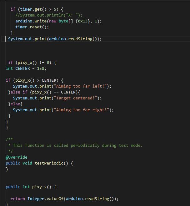 Using Pixy2 through arduino to roborio via usb - Java - Chief Delphi