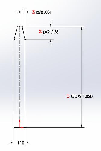 ANSI Revolve Dimensions