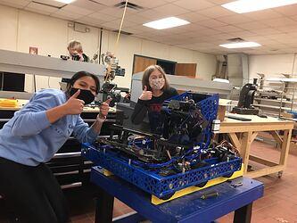 Alisha_and_Maddie_Robot