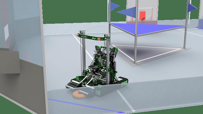 345-000 Robot on Field - Intaking DONUT