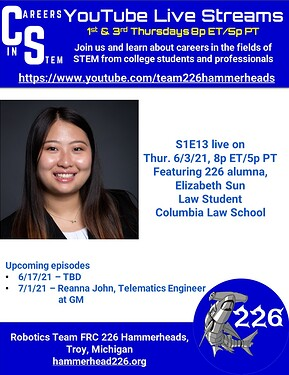 Careers in STEM S1E13 - Elizabeth Sun