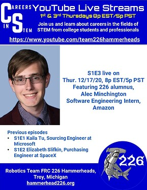 Careers in STEM S1E3 - Alec Minchington