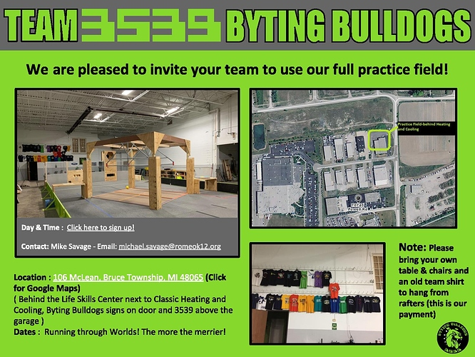 Practice Field Invitation 2020