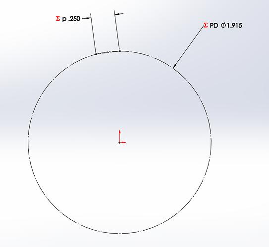 Standard Hob Circle and Chord