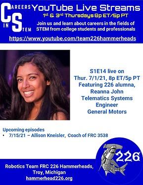 Careers in STEM S1E14 - Reanna John