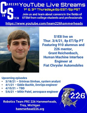 Careers in STEM S1E8 - Grant Reichenbach