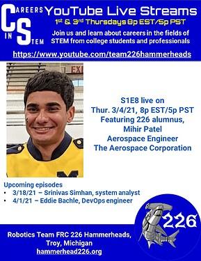 Careers in STEM S1E8 - Mihir Patel