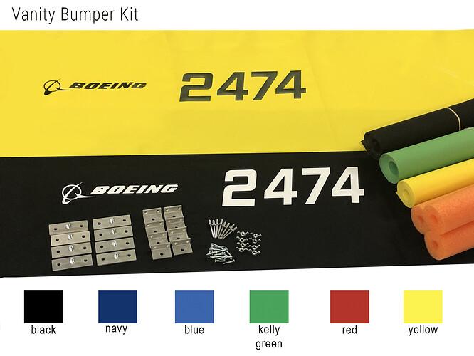 vanity bumper kit words-colors