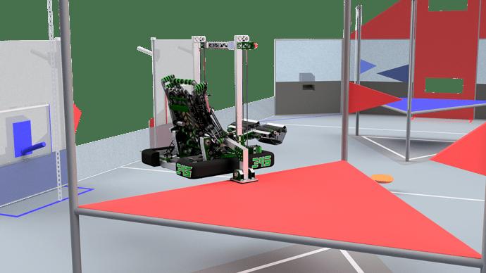345-000 Robot on Field - Climbed