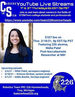 Careers in STEM S1E7 - Meha Patel
