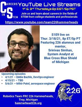 Careers in STEM S1E9 - Srinivas Simhan