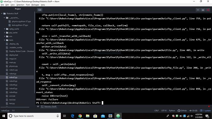 Robot Not Deploying Code