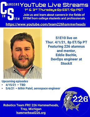 Careers in STEM S1E10 - Eddie Bachle