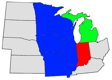 Midwest District map