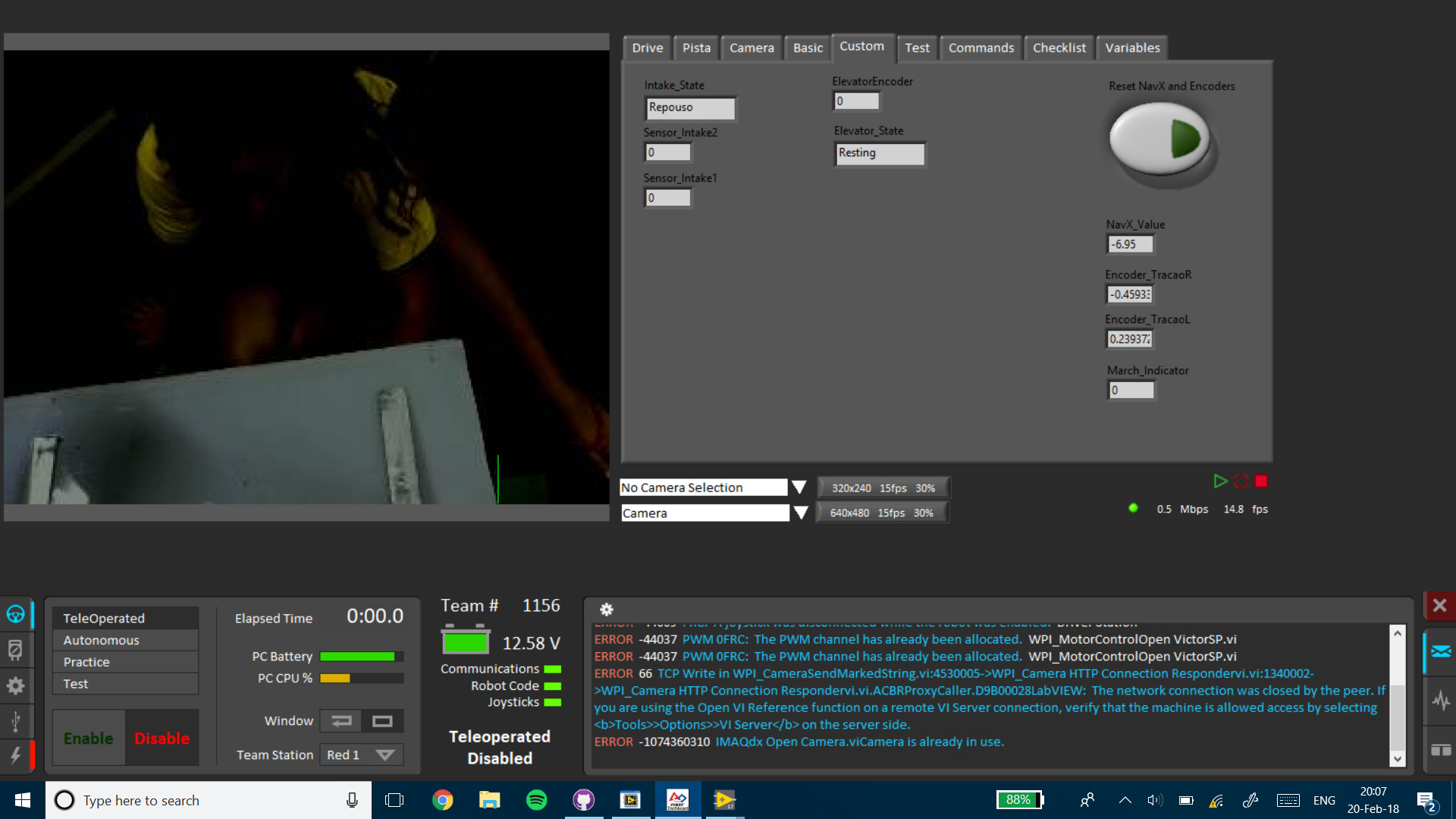 Logitech camera issue - dark image on dashboard