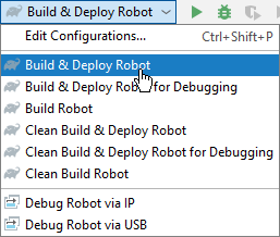 Gradle Run & Debug Configurations - Drop Down