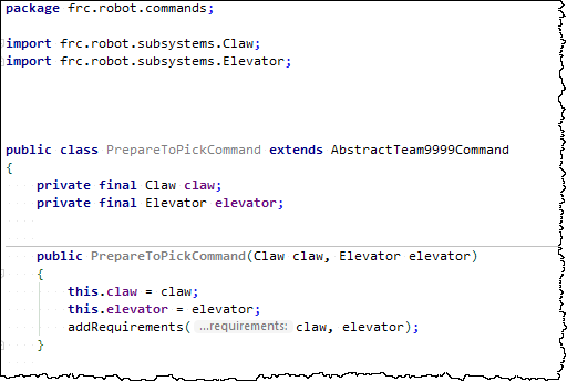 Example new command