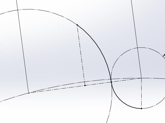 Complete Half Profile Drawn